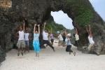 group jump at Nakabuang Beach, Sabtang Island