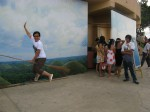 trick jump shots at the Chocolate Hills