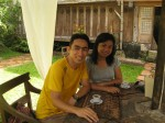 at the Cafe Olegario, Clarin Ancestral House