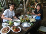 yummy lunch buffet, Bohol Bee Farm